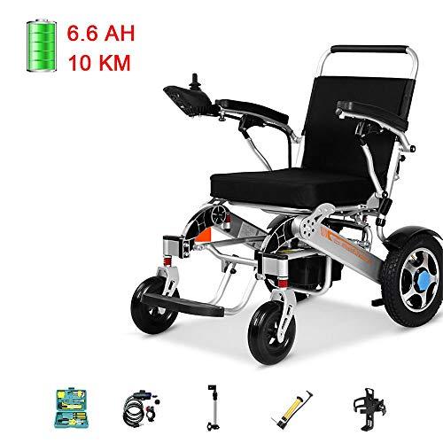 Lichte elektrische rolstoel, ultrabewegende automatische opvouwbare High Power Dual-motor, intelligente remgrepen. N530 6.6ah