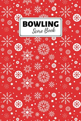 Bowling Log Book: Cosmic or League Journal for Bowlers, Keep Track of Scores, Lane, Location, Ball, Shoes, Time and Other Bowling Information - Christmas Ornaments Red Cover Book (Notebook, Diary)