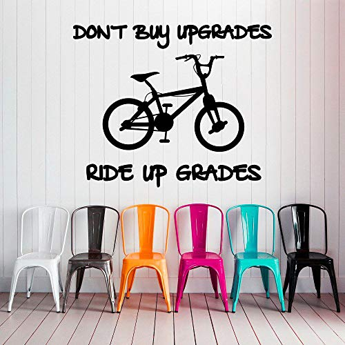 ShiyueNB Bike Quote Koop je geen upgrades Sport Gym Home Vinyl sticker 94x114cm