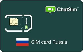 Tarjeta SIM internacional para viajes a RUSIA y en todo el mundo – ChatSim – cobertura 165 Países, roaming global – red multioperador GSM/2G/3G/4G, sin costes fijos. 1 GB para 30 días