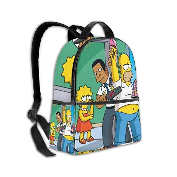 51V4A82TA L. SS600  - Anime Cartoon Simpsons - Mochila para Estudiantes, Unisex, diseño de Dibujos Animados, 14,5 x 30,5 x 12,7 cm