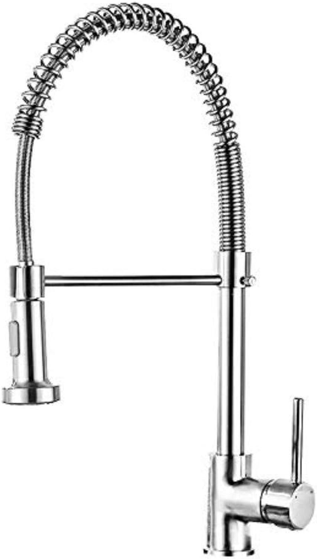 Wasserhahn Einhand Wasserhhne Küche Kitchen Sink Kupfer Gebürstetem Frühling Einzigen Griff Einlochmontage Drehbare Wasserhahn Kitchen Sink Bad Wasserhahn