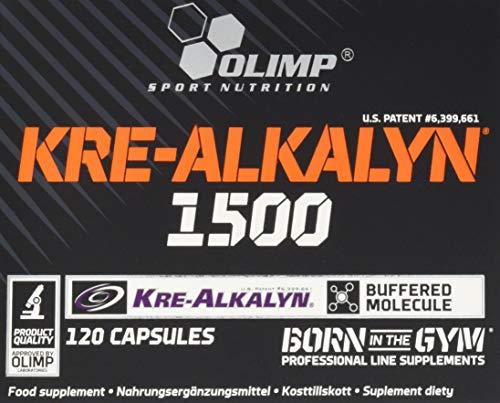 Olimp Kre-Alkalyn 1500 Mega Caps | Creatine | 120 Kapseln, 1er Pack (1 x 104,4 g)