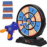 GaHoo Digital Shooting Targets with 60 Foam Darts and Foam Dart Toy Guns, Electronic Scoring Board Games for Kid, Shooting Game Toy Gifts for 5 6 7 8 9 10+ Year Old Boy, Compatible with Nerf Toy Gun