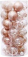 クリスマスツリーの装飾、クリスマスツリーボールクリスマスつまらないもの6cm / 30個クリスマスボールクリアプラスチック装飾品パーティークリスマスツリーハンギングデコレーション