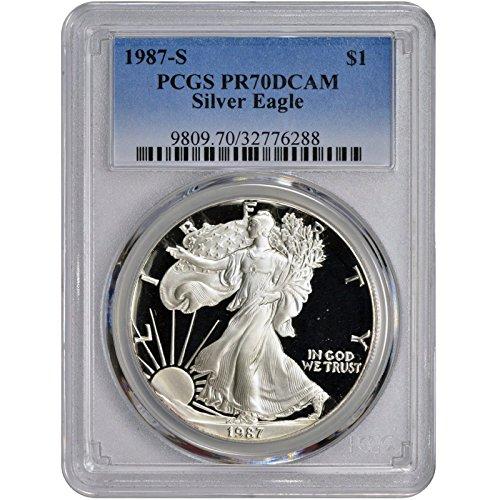 1987 S American Silver Eagle $1 PR-70 PCGS