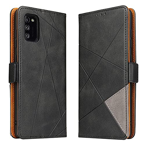 BININIBI Hülle für Samsung Galaxy A41, Klapphülle Handyhülle Schutzhülle für A41 Tasche, Lederhülle Handytasche mit [Kartenfach] [Standfunktion] [Magnetisch] für Samsung Galaxy A41, Schwarz