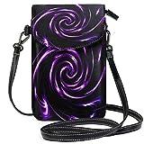 XCNGG Strudel Eddy Sog - Cartera con diseño abstracto para teléfono móvil para mujer y niña, pequeños bolsos tipo bandolera