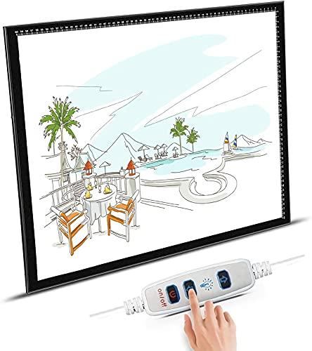 JIAWDYJ Tracing Light Box for Drawing, Ultra-Thin Portable LED Light Box Tracer Cavo di Alimentazione USB Dimmerabile Luminosità LED per Artisti Disegno Schizzi Animazione Stencil,A2 Light Table