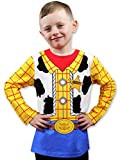 Toy Story 4 Sheriff Woody Boys Girls Baby Toddler Long Sleeve T-Shirt Tee (5-6, Blue/Yellow)