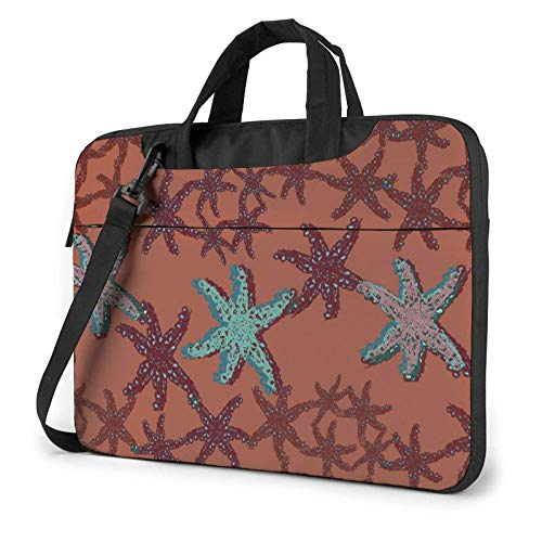 XCNGG Bolso de hombro Computer Bag Laptop Bag Carrying Laptop Case, Shiny Starfish Computer Sleeve Cover with Handle, Business Briefcase Protective Bag for Ultrabook, MacBook, Sony, Notebook 13 inch