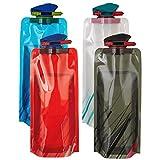 Scarlet Sport | Faltbare Trinkflasche »Compact« (700 ml); Set mit 4 Flaschen; BPA-frei; flexibel,...