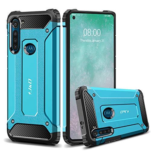 JundD Kompatibel für Motorola Moto G8 Power Hülle, [ArmorBox] [Doppelschicht] [Heavy-Duty-Schutz] Hybrid Stoßfest Schutzhülle für Moto G8 Power Handyhülle -[Nicht für Moto G8]