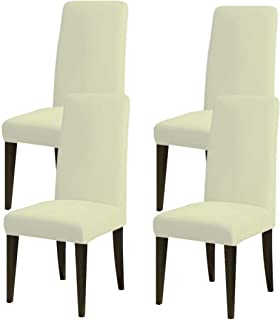WerFamily Room Dining Chair Seat Slipcovers Sets, Spandex Stretch Chair Furniture Protector Covers, Washable Removable Ela...