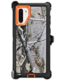 "WallSkiN Turtle Series Belt Clip Cases for Galaxy Note 10 (6.3""), 3-Layer Full Body Life-Time Protective Cover & Holster & Kickstand & Shock, Drop, Dust Proof - Camouflage/Orange"