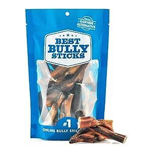 Best Bully Sticks 2-to-4 Inch Junior Bully Sticks (8oz. Bag) – Grain-Free, Single-Ingredient, Grass-Fed, Free-Range, 100% All-Natural Beef Dog Treat Chews