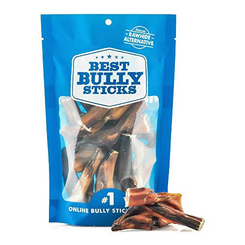 Best Bully Sticks 2-to-4 Inch Junior Bully Sticks (8oz. Bag) - Grain-Free, Single-Ingredient, Grass-Fed, Free-Range, 100% All-Natural Beef Dog Treat Chews