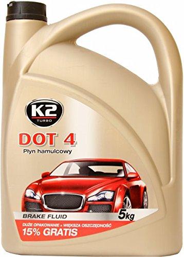 K2 DOT 4 Bremsflüssigkeit, vollsynthetisch, mischbar mit DOT 3 und DOT 4 Klasse, 5kg (ca 5l)