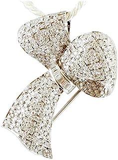 Spilla/Pendente Fiocco Diamanti e Oro bianco 18kt