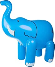 CLISPEED Inflatable Elephant Sprinkler Watering Spraying Toy Outdoor Pool Beach Toys for Kids Outdoor Yard Water Toys Part...