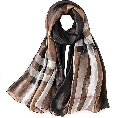 Taidor Damen Schal aus Seide, für alle Jahreszeiten, groß - Braun - Einheitsgröße