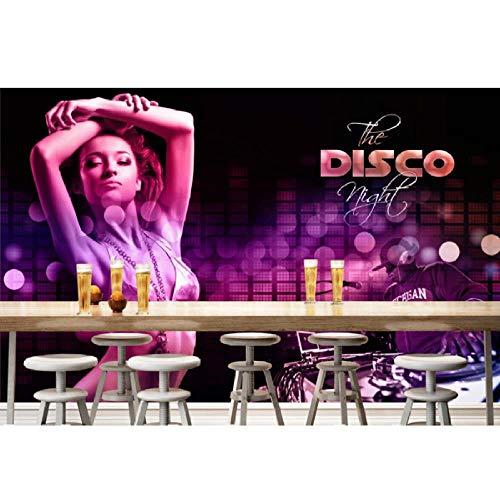 Shuangklei 3D behang/aangepast fotomuur papier/nachtclub disco bikini schoonheid/tv/bank/slaapkamer/ktv/hotel/woonkamer/kinderkamer 200 x 140 cm.