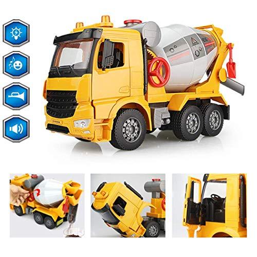 Friction Powered Cement Mixer Truck Spielzeug, Micro Zement-LKW-Spielzeug-Zement-LKW mit Licht und Sound-Effekten für Kinder