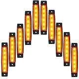 来慶(ライケイ) 防水 LED 6連 サイドマーカー 黄 24V 10個セット カスタム ランプ イエロー アンバー 電飾 デコトラ イルミネーション トラックマーカー