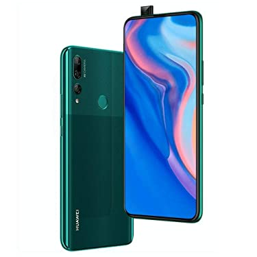 "Huawei Y9 Prime 2019 (128GB, 4GB RAM) 6.59"" Display, 3 AI Cameras, 4000mAh Battery, Dual SIM GSM Factory Unlocked - STK-LX3, US & Global 4G LTE International Model (Emerald Green, 128 GB)"