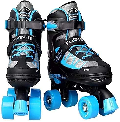 Inliner Für Kinder,schlittschuhe Herren Rollschuhe, klassische Rollschuhe Sicherheit Roller Skate Quad Skates Einstellbar für Anfänger Fachmann für den Innen- und Außenbereich für Menschen und Frau Un