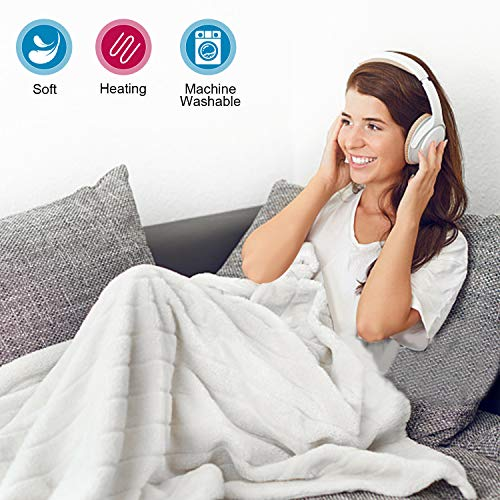 Hengda Wärmeunterbett,190x80cm,Waschbar,9 Stufen,Schadstoffgeprüft, Überhitzungsschutz, Heizdecke Wärmedecke