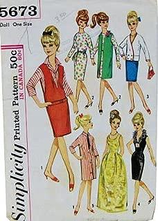 Simplicity 5673 Vintage 60s Teen Fashion 11.5