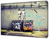 Kunstdruck auf gerahmter Leinwand, Banksy, Life is Short