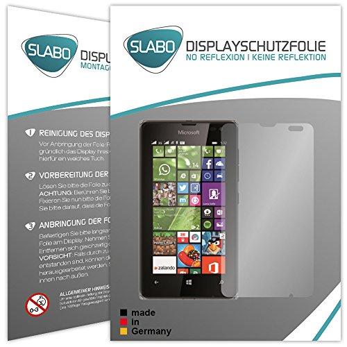 Slabo 4 x Bildschirmschutzfolie für Microsoft Lumia 532 Bildschirmfolie Schutzfolie Folie Zubehör No Reflexion MATT