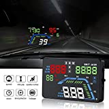 "YICOTA Car HUD GPS Head Up Display 5.5 ""Colorido LED Dashboard Proyector de velocidad del sistema de advertencia Compatible con todos los coches (Q7)"