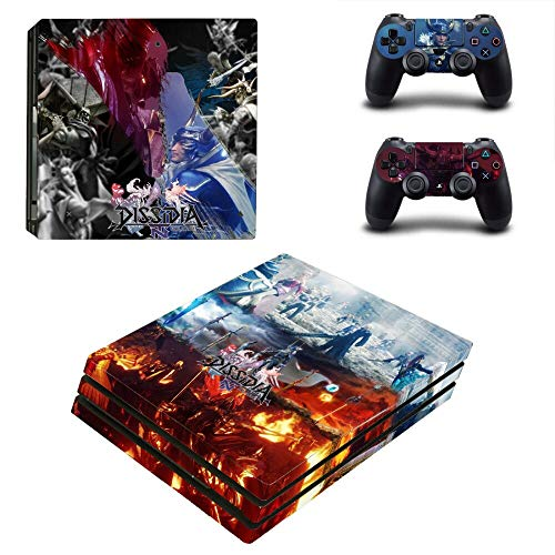 WANGPENG Dissidia Final Fantasy NT PS4 Pro Skin Sticker Decal for PlayStation 4 Console and 2 Manettes PS4 Pro Skin Sticker Decal Decal Decal