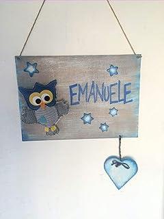 Cartello in legno per cameretta bimbi con nome - Idea regalo nascita