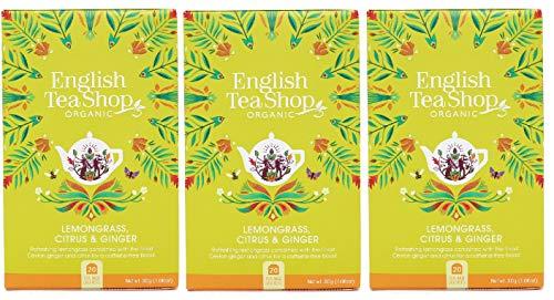 English Tea Shop - Bolsas de té de papel para bolsitas de té (3 unidades, aroma a limoncillo)