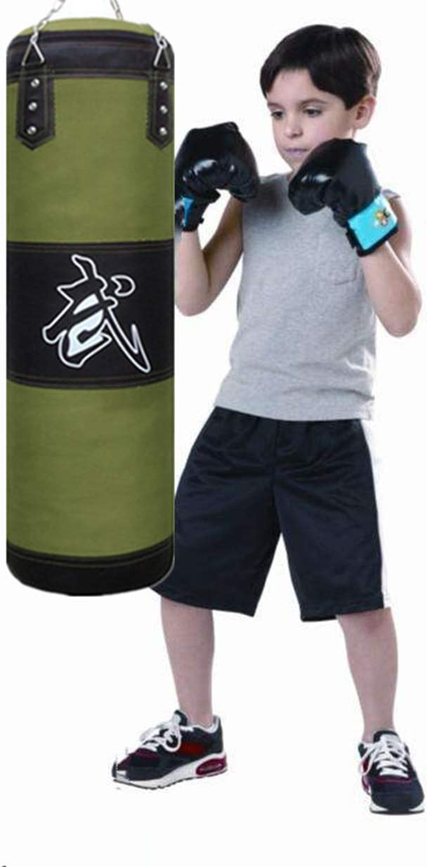 Taekwondo Unfilled Punching Bag with Ceiling Hook and Chains for MMA Muay Thai Sfeexun Heavy Bag Boxing Set for Man Women Kids Kickboxing Karate