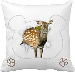 OFFbb-USA Animal Paper Breaks Impact Deer Bear - Funda cuadrada para almohada