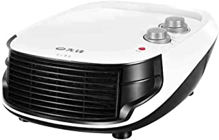 Calentador Vertical de Pared pequeño Calentador de cerámica con Temperatura Regulable Ventilador de Aire Acondicionado de Oficina de baño 2000w Blanco 12 Pulgadas (Tamaño : Common-White)