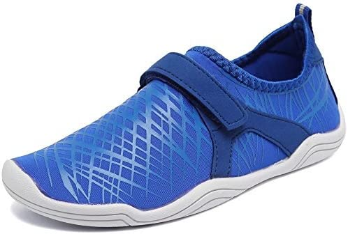 CIOR Boys & Girls Water Shoes Quick Drying Sports Aqua Athletic Sneakers Lightweight Sport Shoes(Toddler/Little Kid/Big Kid) DKSX-Deep blue-34