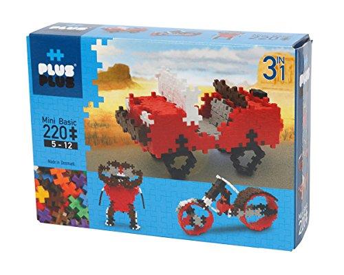 Plus-52119 - Puzzle Mini Basic 3-en-1, 220 Piezas (3710) - Cofre 3 en 1 Mini Basic Verde 220 Piezas, Juguete Construcción A Partir de 4 años
