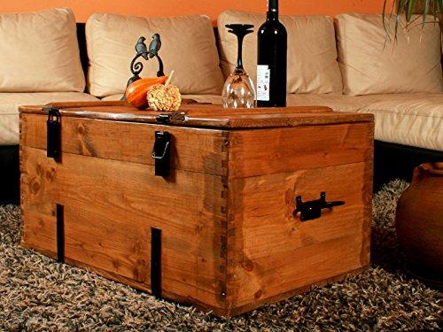 Holzkiste Holztruhe Couchtisch Kaffeetisch, shabby chic, Tisch, Truhe, Kiste Länge: 80 cm Höhe: 45 cm Tiefe: 50 cm - 3