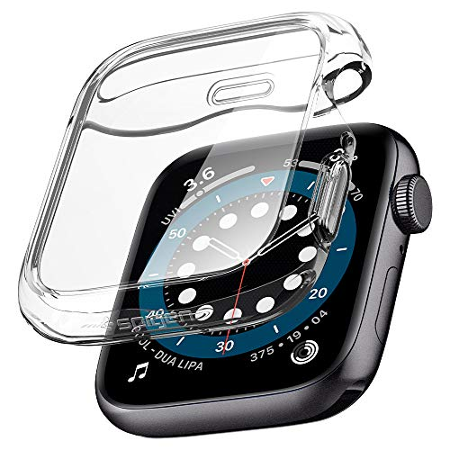 Spigen Ultra Hybrid Kompatibel mit Apple Watch Hülle fur 44mm Serie 6/SE/5/4 - Kristallklar