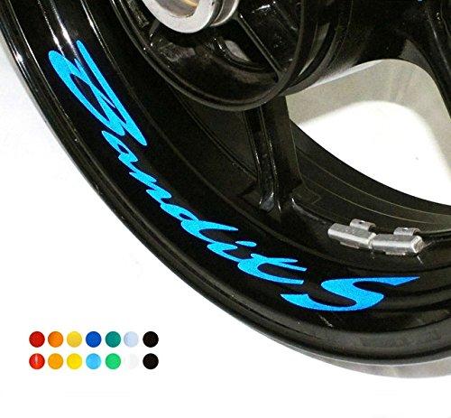 Preisvergleich Produktbild 8 X Felgen Motorrad Bike Aufkleber Sticker Decal SUZUKI Bandit S N 1200 für Vorder und Hinterrad Innenrand Aufkleber Sticker Felgen Set Tuning