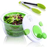 Large Salad Spinner with Free Silicone Tongs,5 QT...