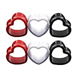 6pcs Heart Shaped Acrylic Ear Plugs Set Mix Color Stretcher Expander Screwed Tunnels Gauge 1/2 in(12mm)