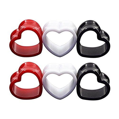 12mm heart plugs - 5