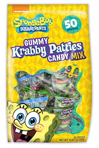 Frankford Candy Company Krabby Patties Mix, Assorted Fruit, 50 Count (Pack of 10)
